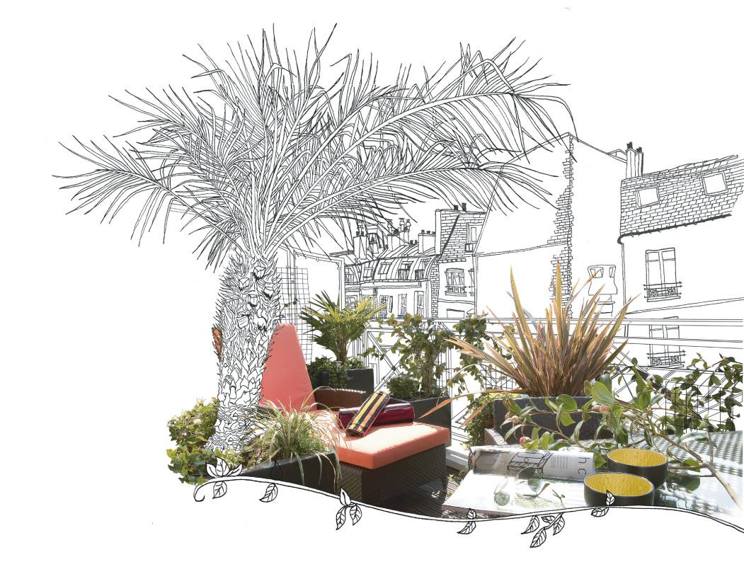 illustration jardin Villa Madame