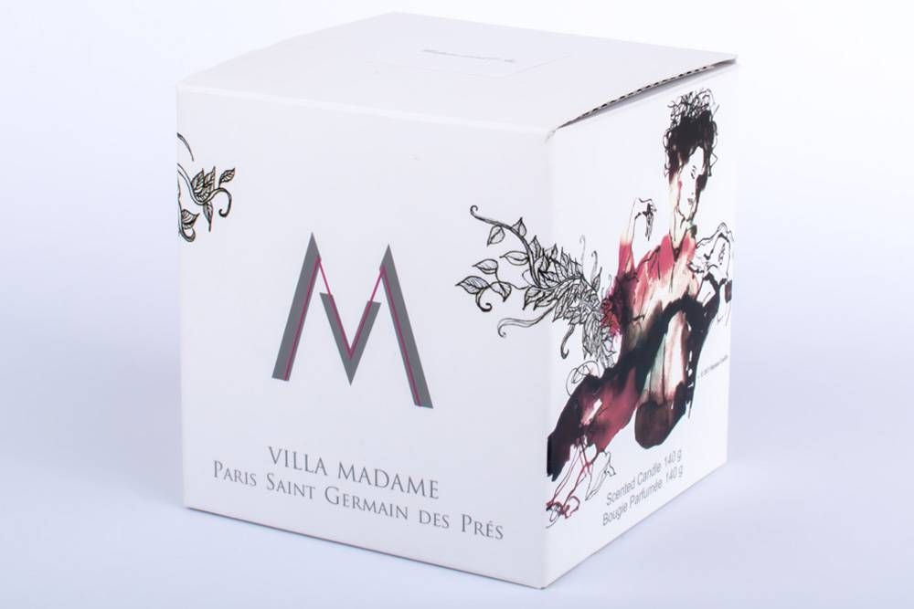 illustrated candle Villa Madame